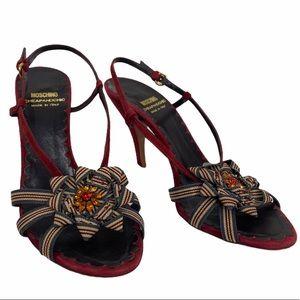 Moschino Flowet red Heels size 5.5